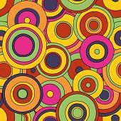 circles seamless bright hand written pattern