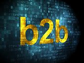 Finance concept: B2b on digital background