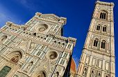 View Of Duomo Cathedral And Campanila Tower In Florence