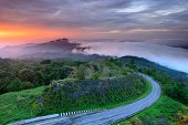 Sunrise At Doi Intanon National Park View Point, Chiang Mai Thailand