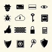 IT Security. Computer criminal icons set.