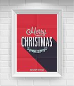 Vintage Christmas Poster. Vector illustration.