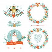 Set of Christmas and New Year graphic elements? holiday symbols