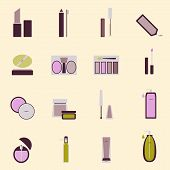 Set Of Cosmetic Nude Tone Icons