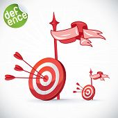 Arrow Hitting Directly In Bulls Eye