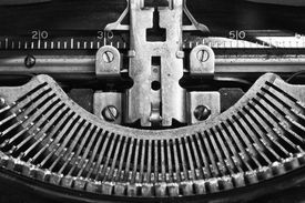 stock photo of qwerty  - An Antique Typewriter Showing Traditional QWERTY Keys IX  - JPG