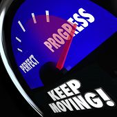 Progress and Perfect Words Gauge Keep Moving