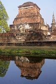 Ancient Buildings Temple In Sukhothai