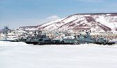 View Of Naval Vessels On The Petropavlovsk-kamchatsky Seaport. Far East, Russia