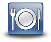 Icon Button Pictogram Eatery Restaurant