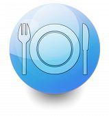Icon Button Pictogram Eatery Restaurant