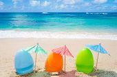 Easter Eggs On The Beach