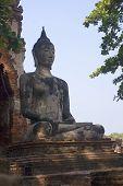 Buddha Statue At Wat Mahathat In Ayutthaya