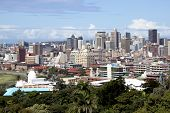 Overview Of Durban City Skyline And Buildings