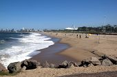 View Of Fishermen On Beach In Durban
