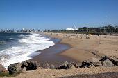 View Of Fishermen On Beach In Durban