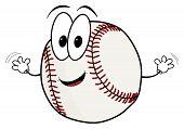 Happy Cartoon Baseball Character