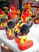 Chickens Statue