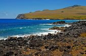Rugged Coastline at Rapa Nui - Easter Island