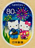 JAPAN - CIRCA 2011: A stamp printed in Japan shows Hello Kitty and Dear Daniel, circa 2011