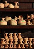 Arabian traditional sand pots in Dubai Old market
