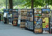 Art prints vendor in Battery Park in Lower Manhattan