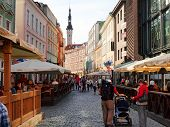 Streets Of The Old Town Tallinn.