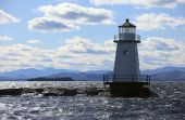 picture of burlington  - Vermont Lighthouse on Champlain Lake Vermont USA - JPG