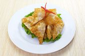 Asian Style food appetizer Deep Fried Wonton