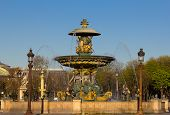 One of the fountains at Place de la Concorde
