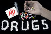 Say No to Drugs Concept