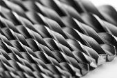 Drill bits isolated on white