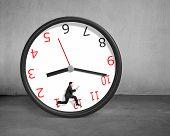 Running Inside Rolling Clock