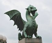 picture of dragon  - LJUBLJANA SLOVENIA  - JPG