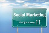 Highway Signpost Social Marketing