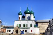 The Church of the Ascension of Christ and Presentation Church. Yaroslavl, Russia