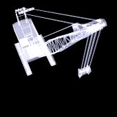 Crawler crane. X-ray