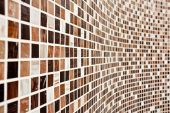 Wall With Brown Mosaic Pattern