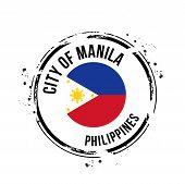 stamp City of Manila