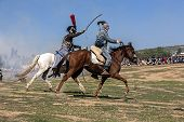 Bandits On Horseback Attacking Enemy Troops In The Commemoration Of The Battle Of Bailen, Jaen Provi