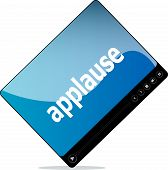 image of applause  - Video movie media player with applause word on it - JPG