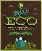 Eco Travel poster. Vector illustration.