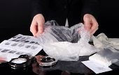 stock photo of heroin  - Heroin consignments found of drug control employees - JPG