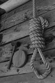 picture of death penalty  - Old noose in a colonial goldrush town in NSW - JPG