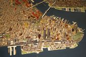 Lower Manhattan area at the New York Panorama in Queens Museum