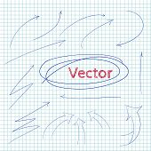 Set of vector arrows