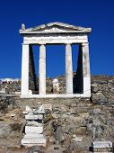 Pantheon In Delos,greece