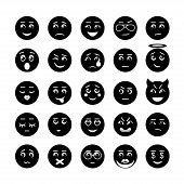 Vector smiley faces icon collection
