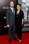 NEW YORK-MAR 26: Director Darren Aronofsky and Brandi Ann Milbradt attend the premiere of