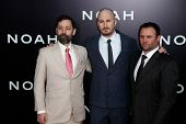 NEW YORK-MAR 26: (L-R) Writer Ari Handel, director Darren Aronofsky and producer Scott Franklin atte